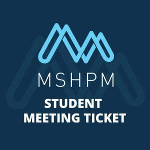 purchase mshpm student conference ticket